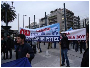 Η ΝεΒ  στο Συλλαλητήριο Βορειοηπειρωτών, ενάντια στην κατάργηση των συντάξεων του ΟΓΑ!
