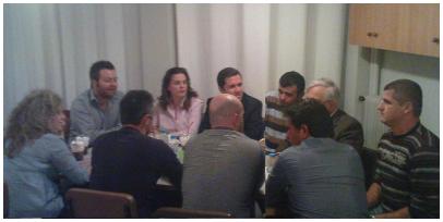 """Συνάντηση """"Νε.Β"""" με τον Πρόεδρο του """"Παγκοσμίου Συμβουλίου Ηπειρωτών"""" κ. Χρυσόστομο Δήμου"""